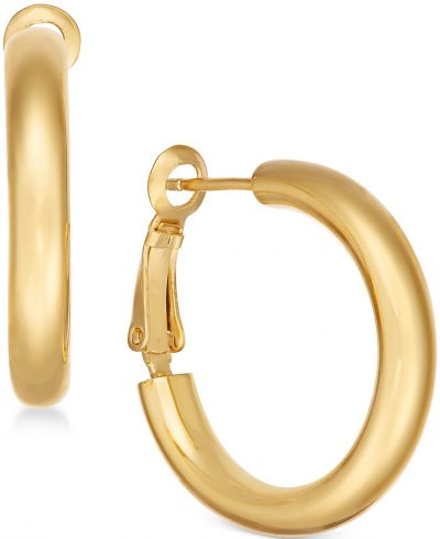 Gold Plated Small Hoop Earrings-Essentials