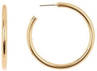 Gold Romney Hoops Earrings