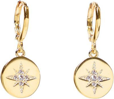 Gold Star Earrings-Heart Made of Gold