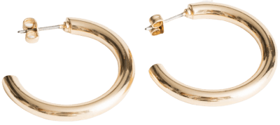 Gold Thick Hoop Earrings-& Other Stories
