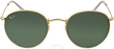 Green Classic G-15 Round Metal Sunglasses-Ray-Ban