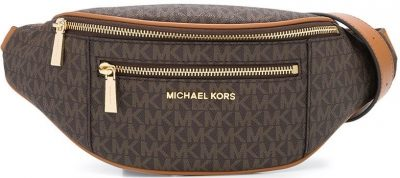 Logo Print Canvas Belt Bag-Michael Kors