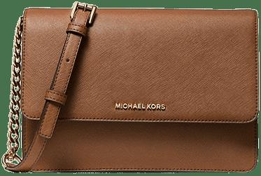Luggage Daniela Large Saffiano Leather Crossbody Bag-Michael Kors