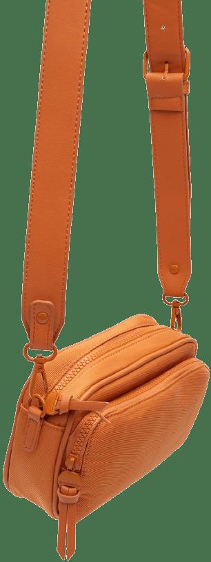 Orange Fabric Crossbody Bag-Stradivarius