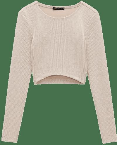 Sand Textured Crop Top