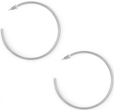 Silver Bold Hoop Earrings