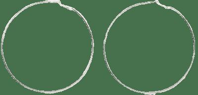 Silver Large Hoop Earrings-River Island