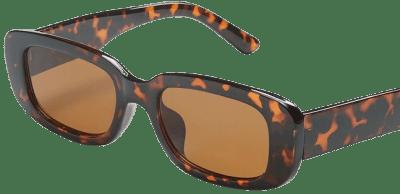 Tortoise Print Oval Sunglasses