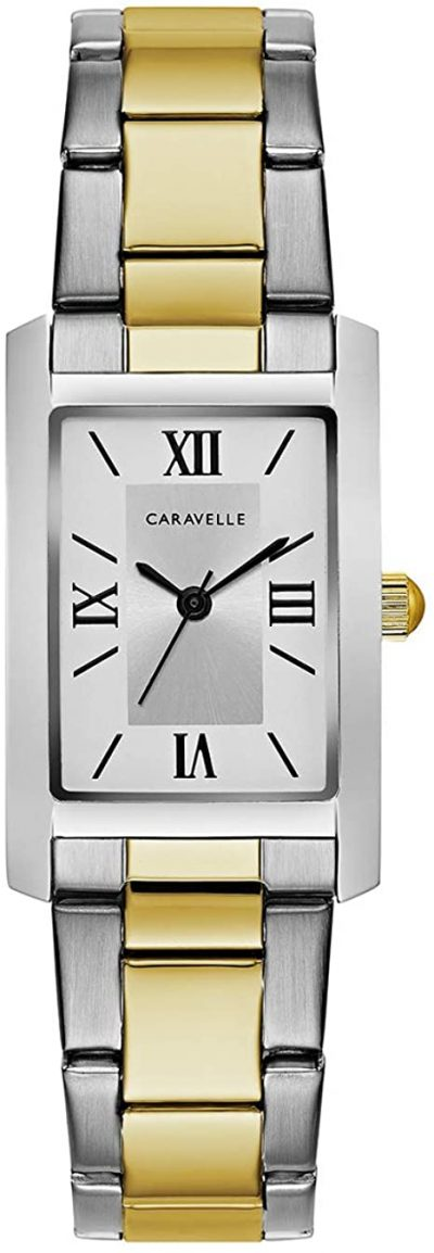 Two Tone Stainless-Steel Watch-Caravelle