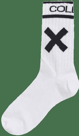 White Branded Socks
