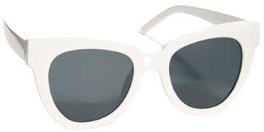 White Zoe Angular Sunglasses-Free People