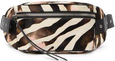 Black Captain Zebra Belt Bag-Allsaints