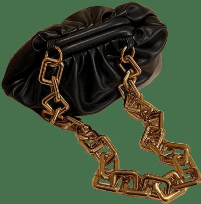 Black Dumplings Shoulder Bags