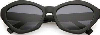 Black Modern Chunky Cat Eye Sunglasses