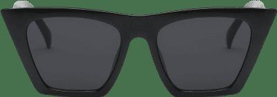 Black Vintage Square Cat Eye Sunglasses