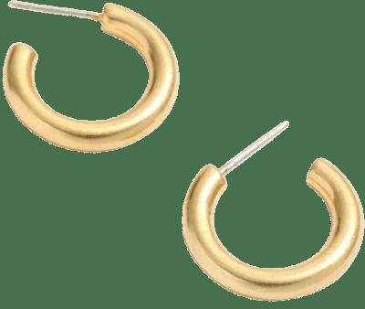 Gold Chunky Small Hoop Earrings