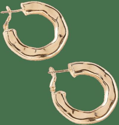 Gold Lua Organic Hoop Earring-Urban Outfitters