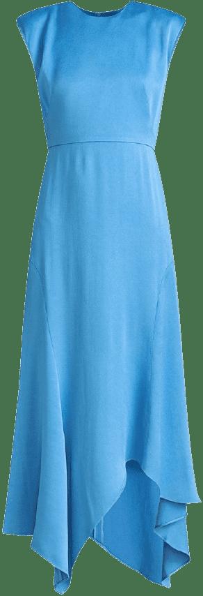 Peony Crepe-Back Satin Dress-Veronica Beard