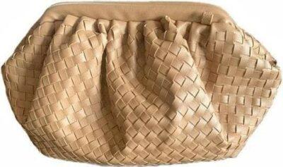 Beige Faux-Leather Cloud Bag-Baltic Guild