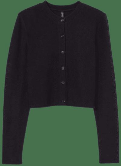 Black Knit Cardigan-H&M