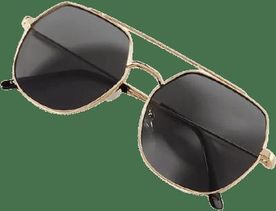 Gold Square Aviator Sunglasses-Anthropologie