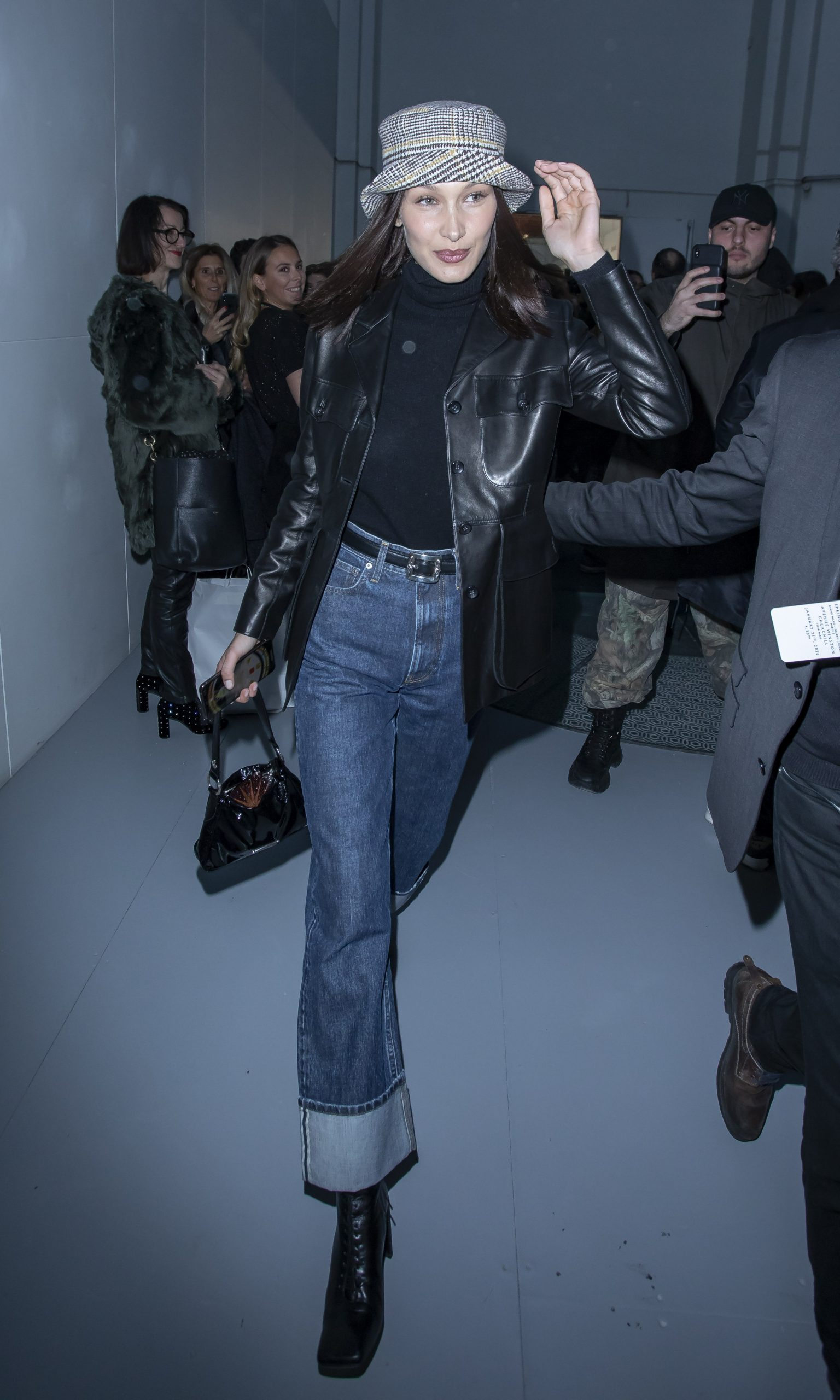 Bella Hadid seen leaving Alexandre Vauthier show