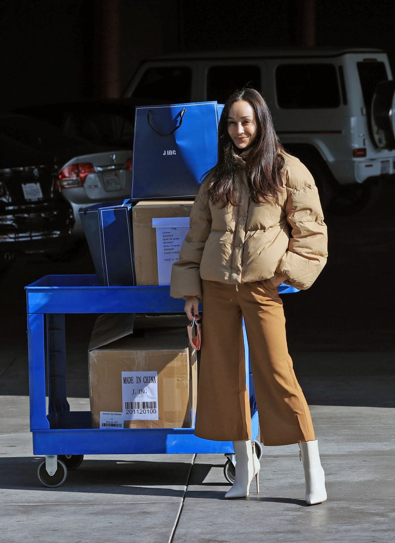 Cara Santana steps out inJ.ing full look as she supports the fashion brand's Clothing Drive partnership with local L.A. shelter.