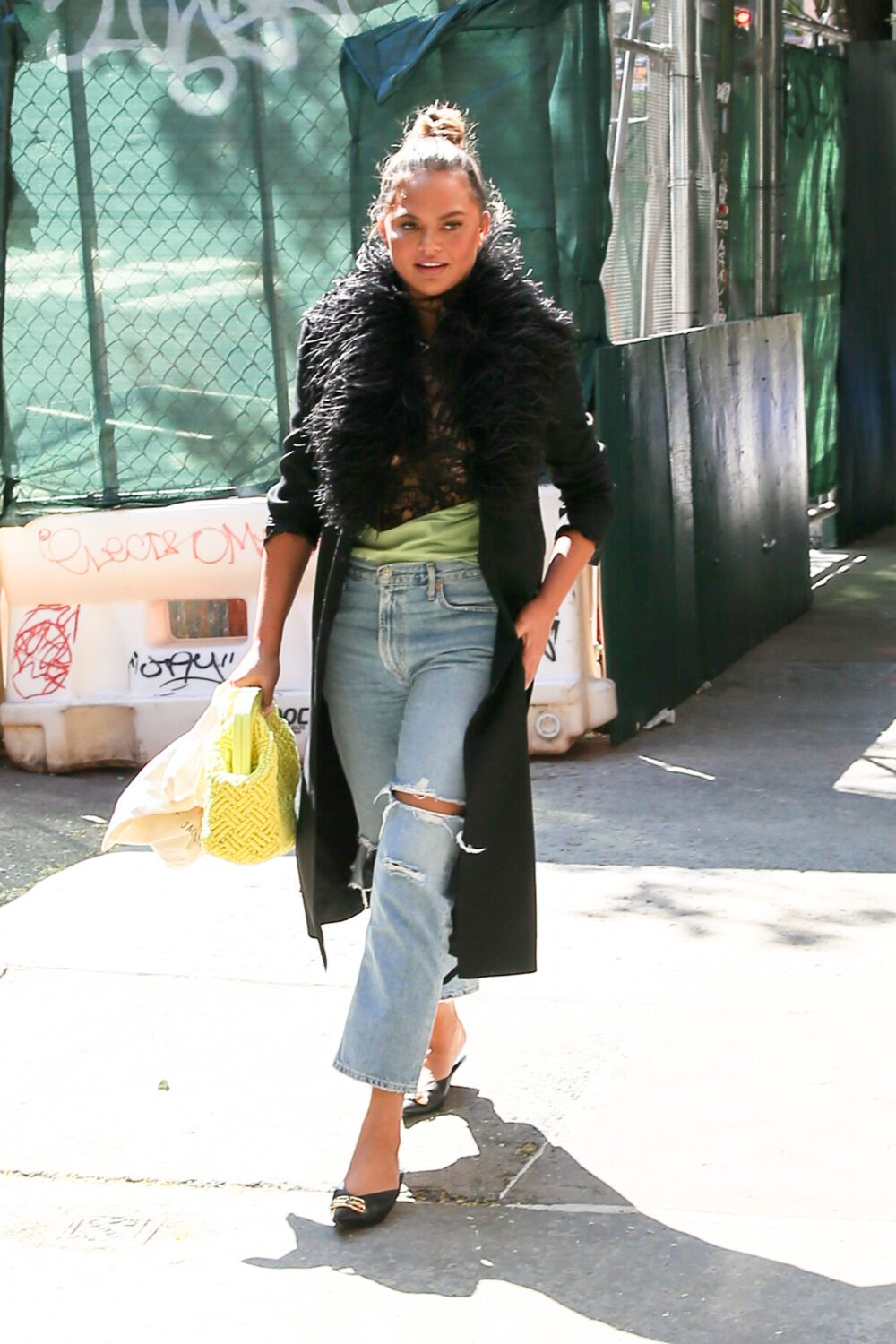 Chrissy Teigen and John Legend seen out and about in New York City