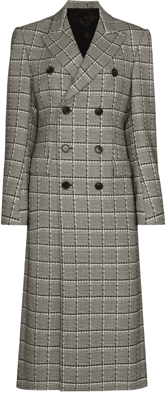 50 Double-Breasted Checked Wool Coat-Wardrobe.NYC X Browns