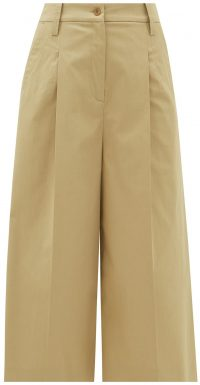 Beige Alyssa Cropped Stretch-Cotton Culottes-Etro