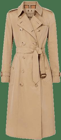 Beige Chelsea Long Cotton-Gabardine Trench Coat-Burberry
