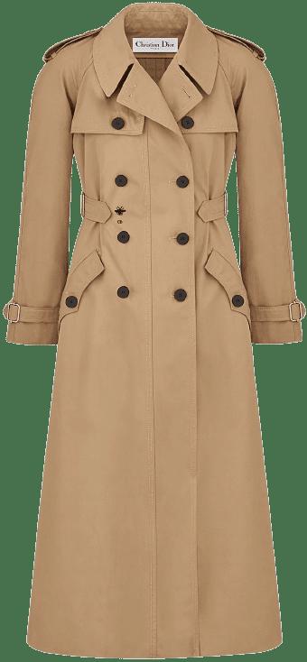 Beige Cotton Trench Coat-Dior