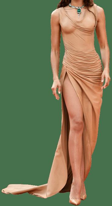 Beige Custom Gown-Balmain