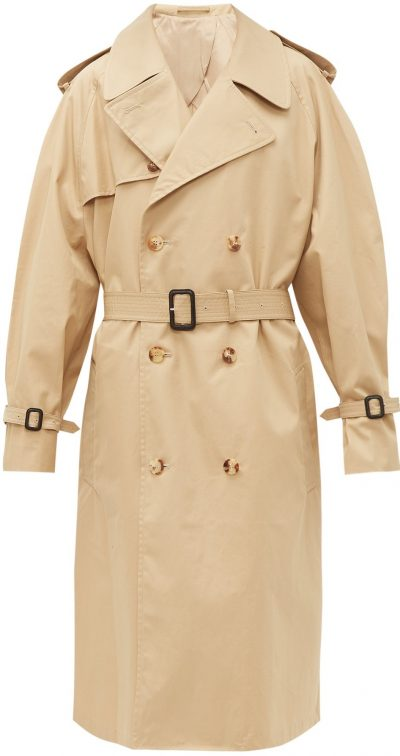 Beige Release 04 Double-Breasted Trench Coat