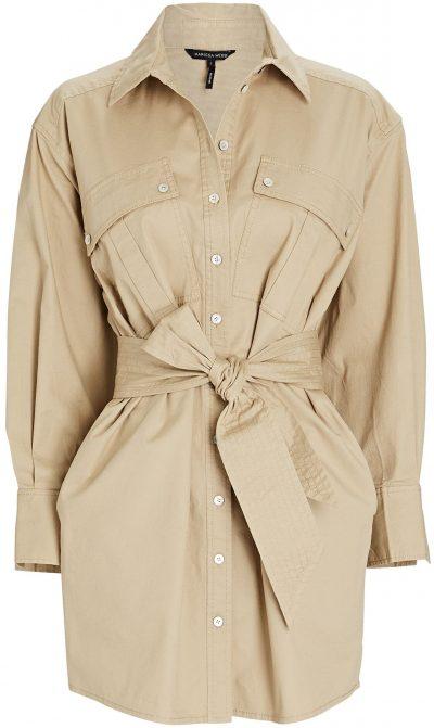 Beige Skylar Canvas Cargo Shirt Dress-Marissa Webb