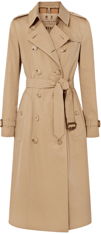 Beige The Chelsea Long Cotton-Gabardine Trench Coat-Burberry