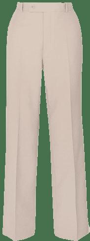 Beige Woven Wide-Leg Pants