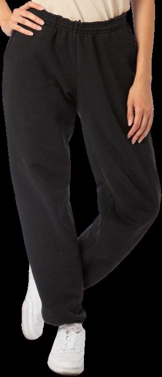 Black 14Oz. Heavy Fleece Pants-Los Angeles Apparel