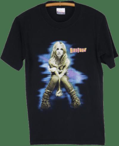 Black 2001 Britney Spears The Britney Tour Shirt-WyCo Vintage