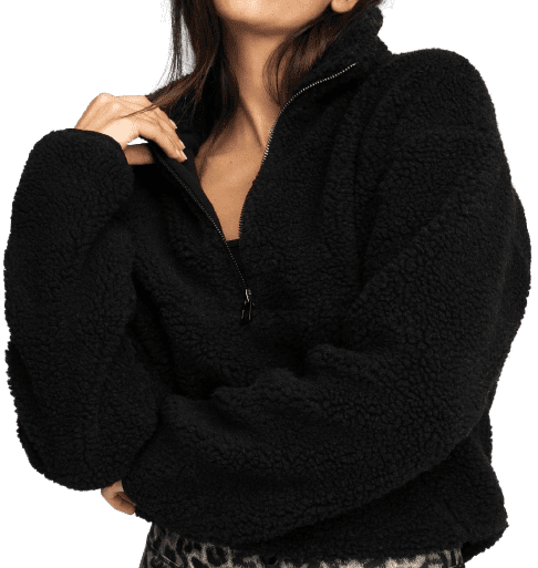 Black All Day Comfy Pullover-Good American