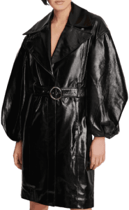 Black Balloon Sleeve Antonia Trench-J Brand X Halpern