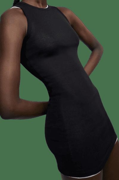 Black Beach Tank Mini Dress-Wardrobe NYC