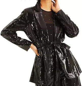 Black CULPOS X INC Sequin Blazer-INC International Concepts