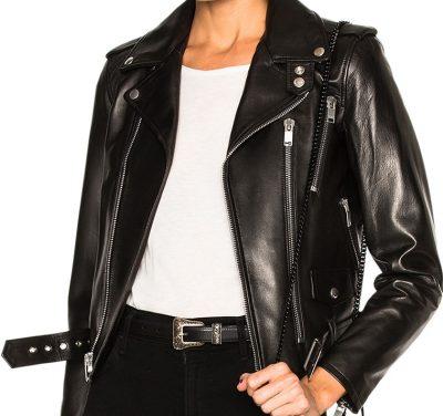 Black Classic Motorcycle Jacket
