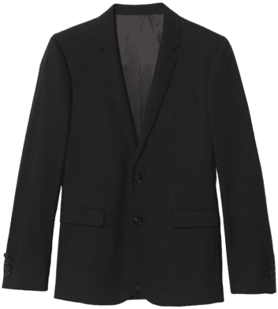 Black Classic Wool Suit Jacket-Sandro