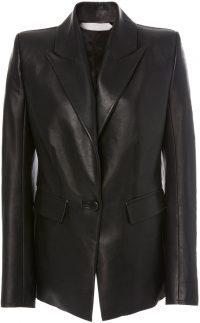 Black Faust Leather Blazer