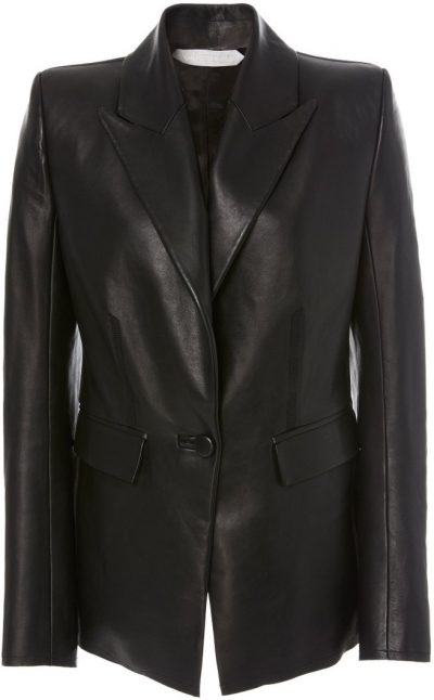 Black Faust Leather Blazer