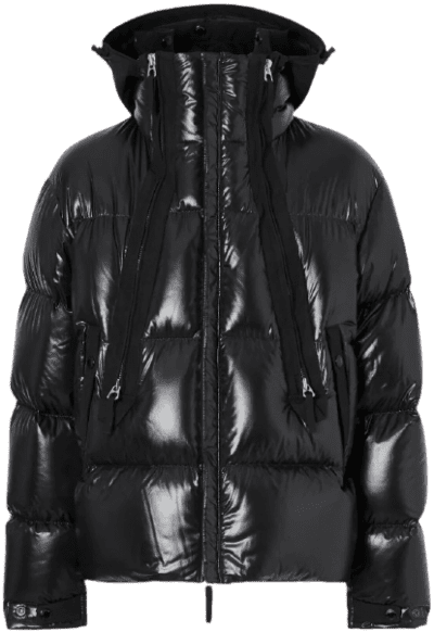 Black Hooded Puffer Jacket-Burberry