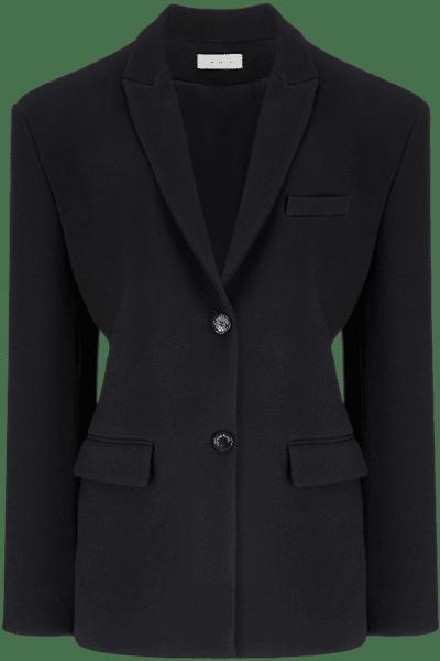 Black JAFR Tailored Wool Blazer-The Mannei