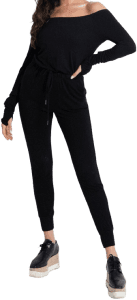 Black Jumpsuit-More Than A Mask By Olivia Culpo